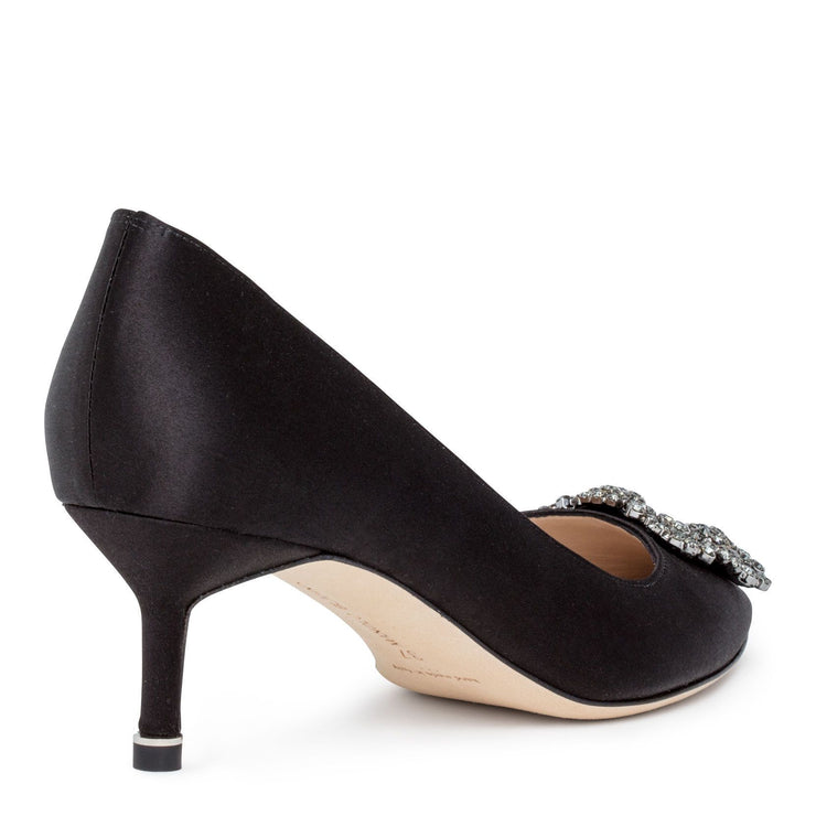 Hangisi 50 black satin pump