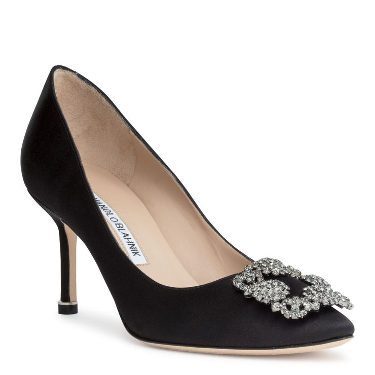 Hangisi 70 black satin pump