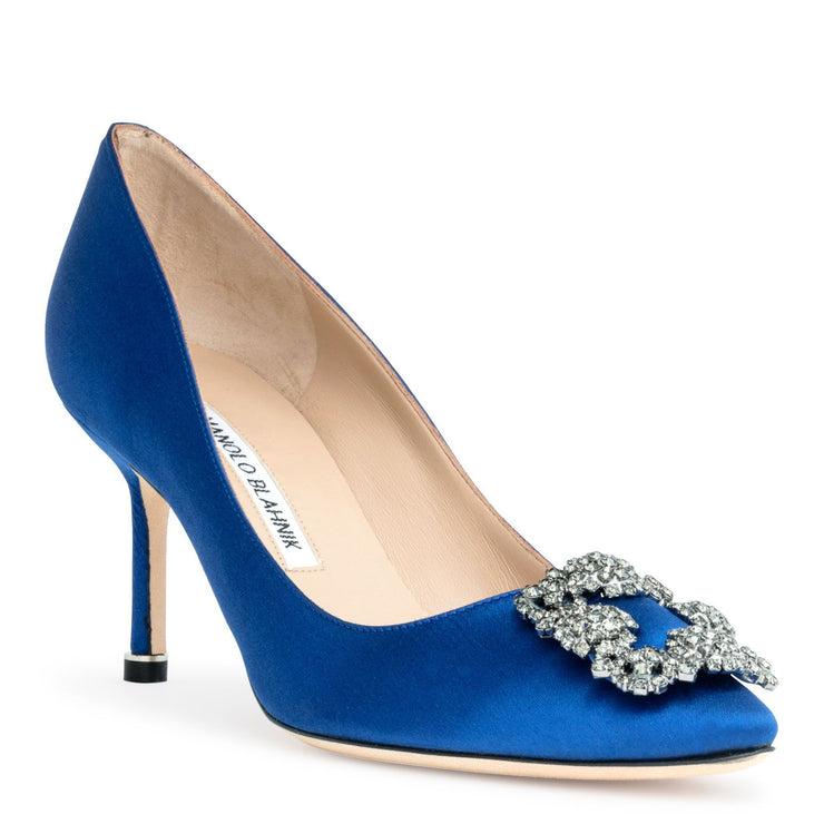 Hangisi 70 Royal blue satin pumps