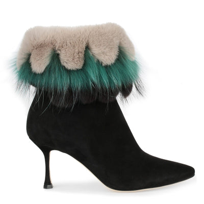 Remola black suede boot