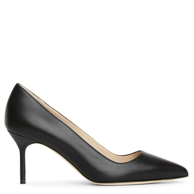 BB70 black leather pumps