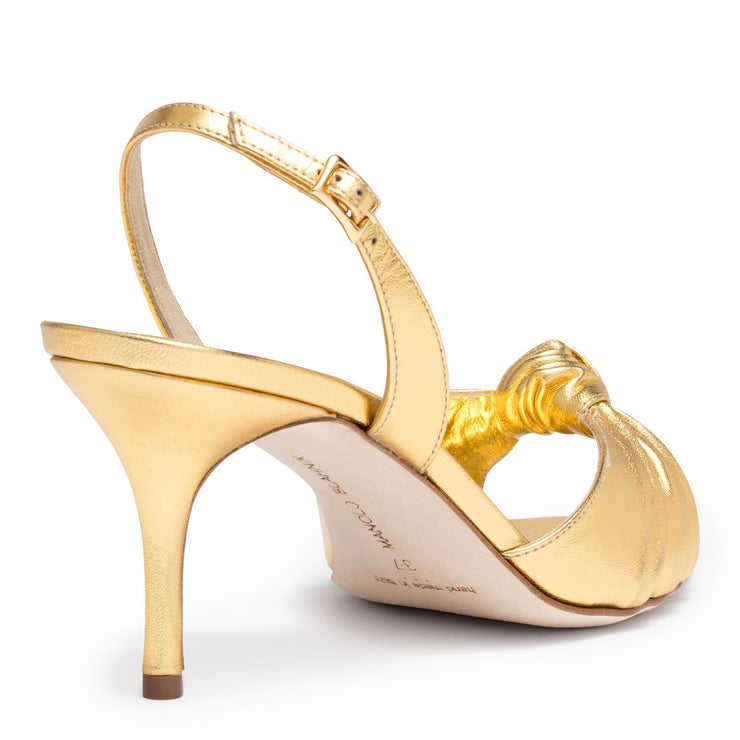 Mumuyesli 70 nappa light gold sandal