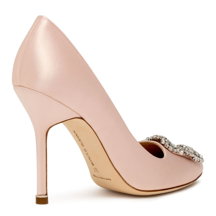 Hangisi 105 light blush satin pumps