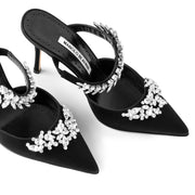 Lurum 90 satin black mules