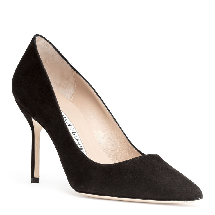 BB 90 black suede pumps
