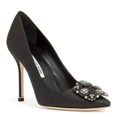 Hangisi 105 black glitter fabric pumps