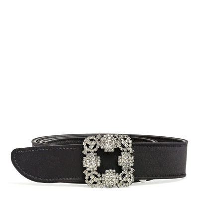 Hangisi black satin 30mm belt