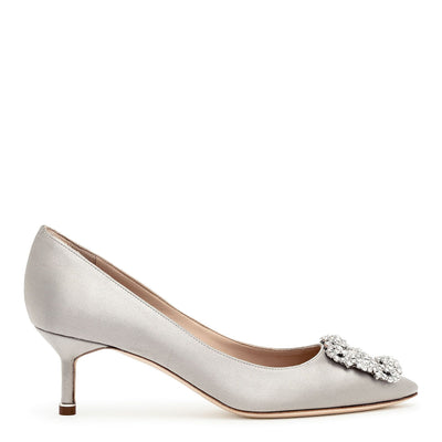 Hangisi 50 silver grey satin pump