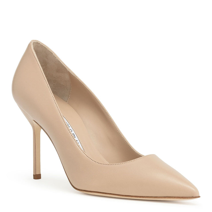 BB90 nude nappa pumps