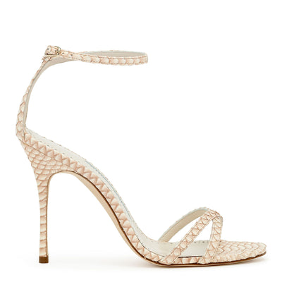 Paloma 105 beige degrade snake sandals