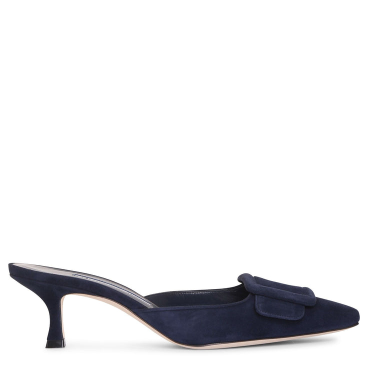 Maysale navy suede pumps