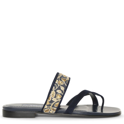 Susaperf brocade flat sandals