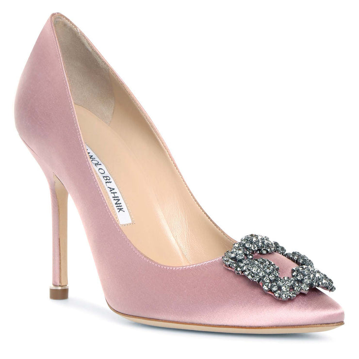 Hangisi 105 pink satin pumps