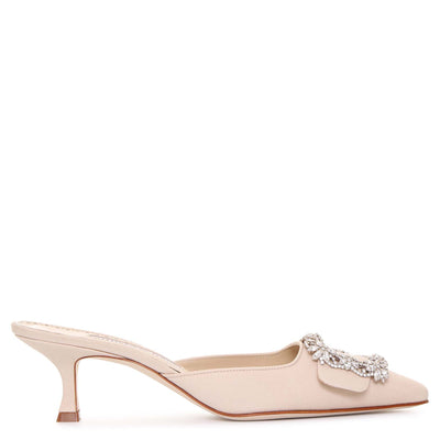 Maysale Jewel white mules
