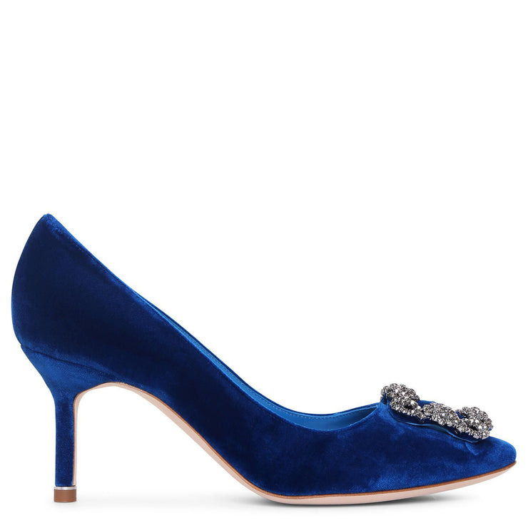 Hangisi 70 velvet blue pumps