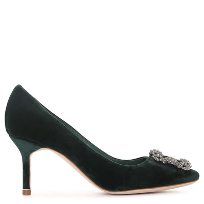 Hangisi 70 velvet emerald pumps