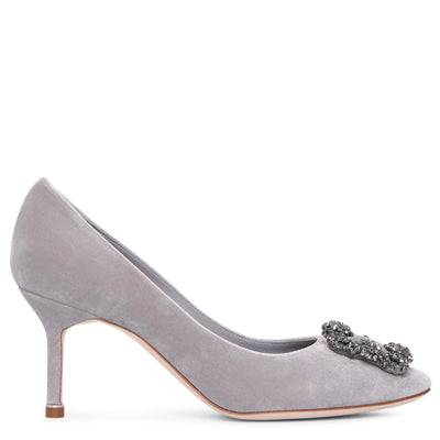 Hangisi 70 grey velvet pumps