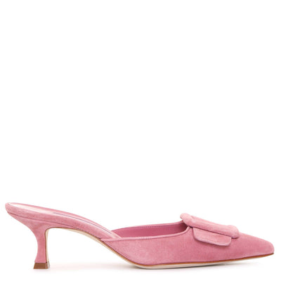 Maysale pink suede mules