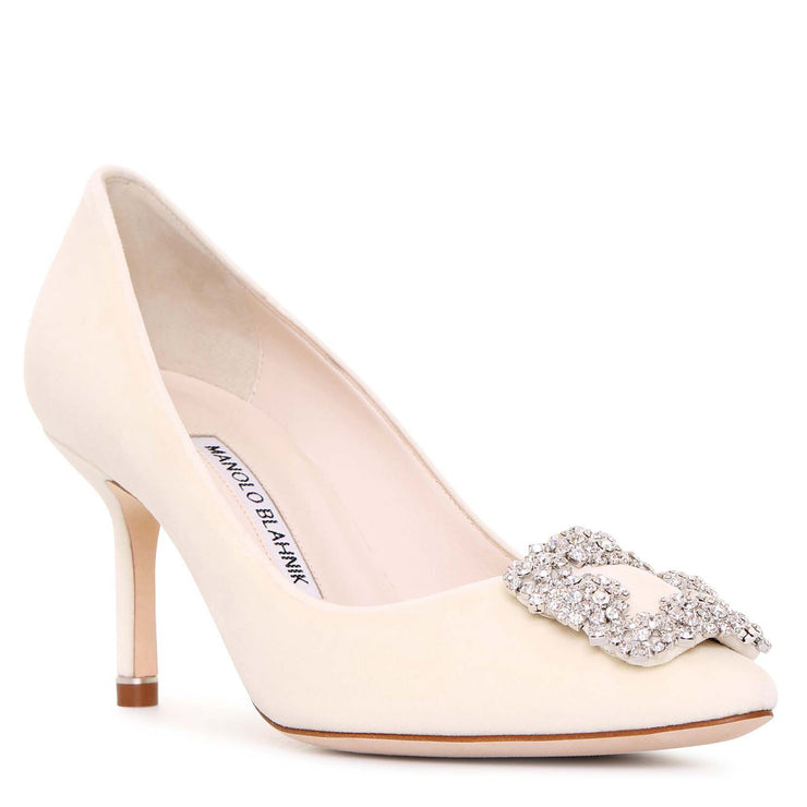 Hangisi 70 velvet cream pumps