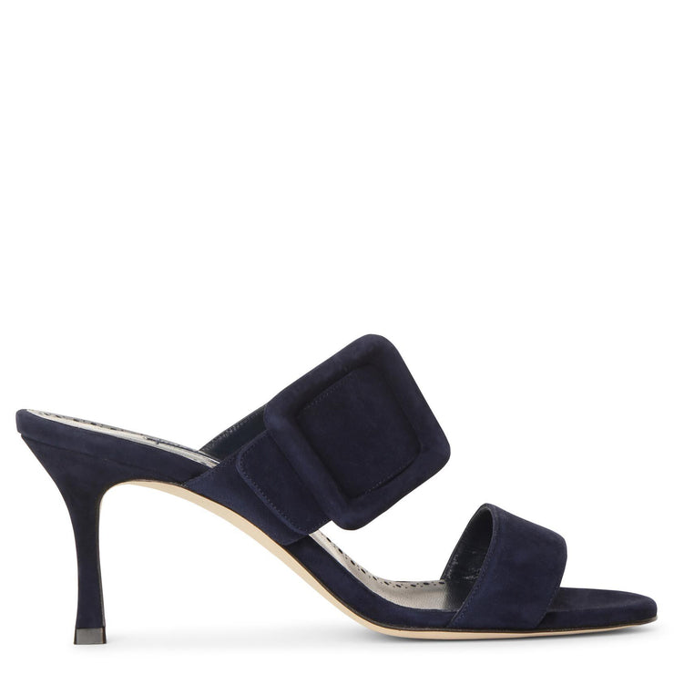 Gable 70 navy suede sandals