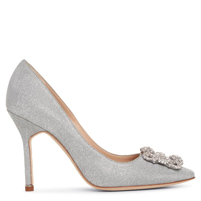 Hangisi 105 silver glitter pumps