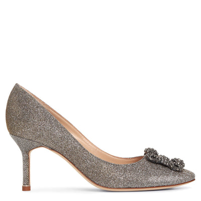 Hangisi 70 dark gold glitter pumps