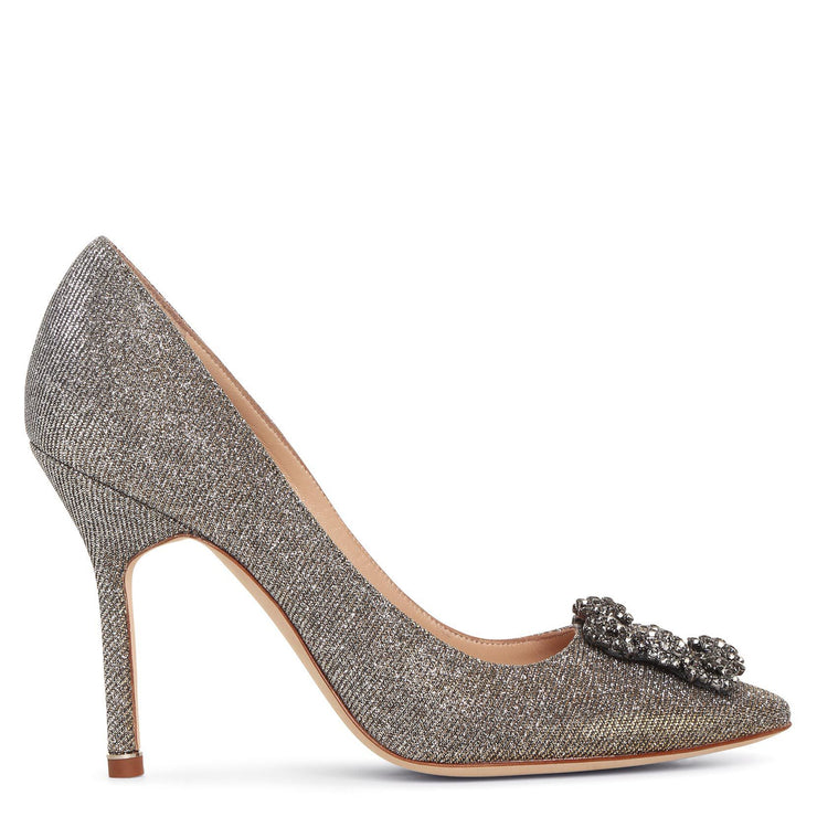 Hangisi 105 dark gold glitter pumps