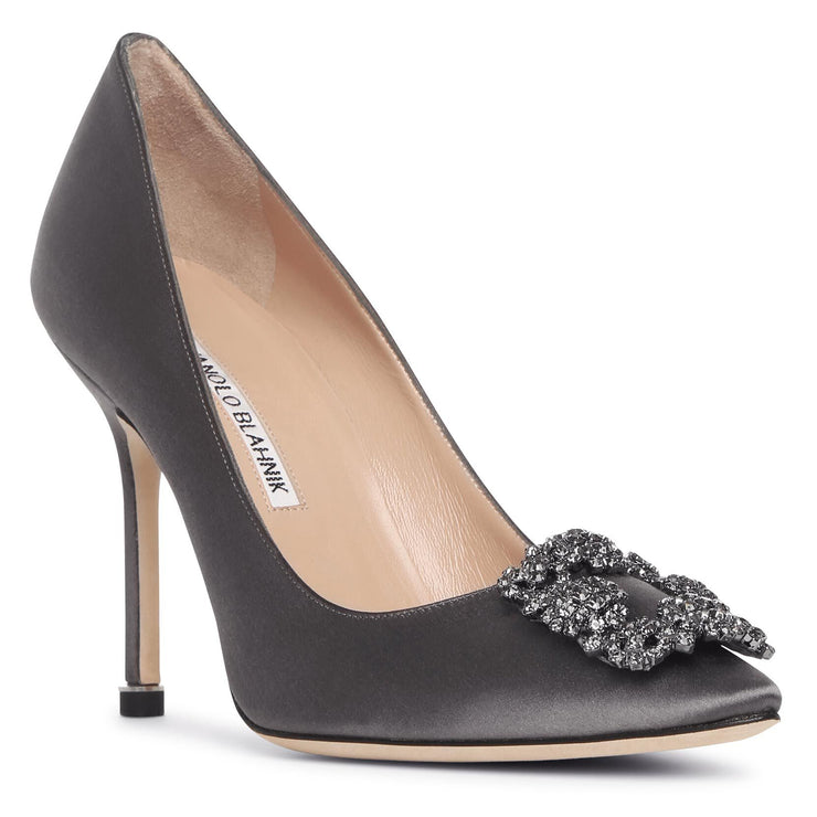 Hangisi 105 dark grey satin pumps
