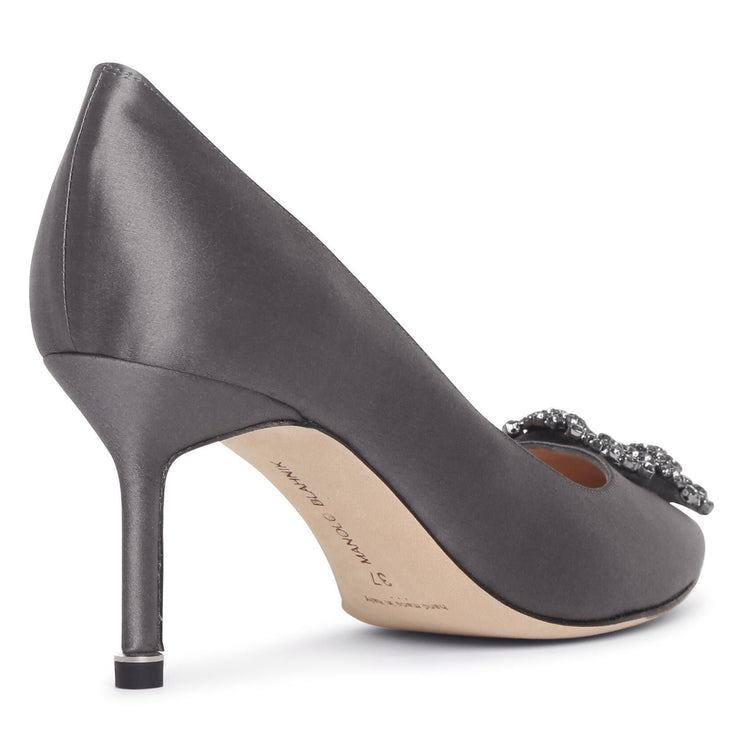 Hangisi 70 grey satin pumps
