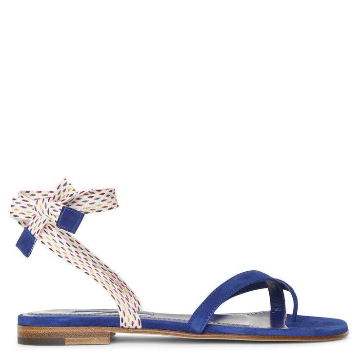 Nastrafla blue flat sandals