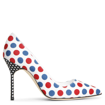 BB 105 linnen polka dot pumps