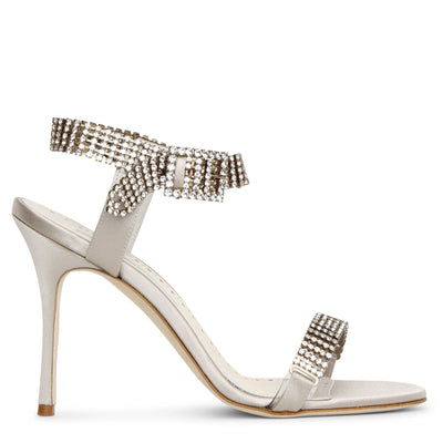 Bashifa jewel satin sandals