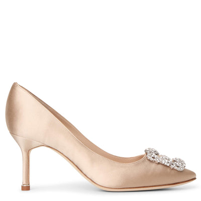Hangisi 70 champagne satin pumps