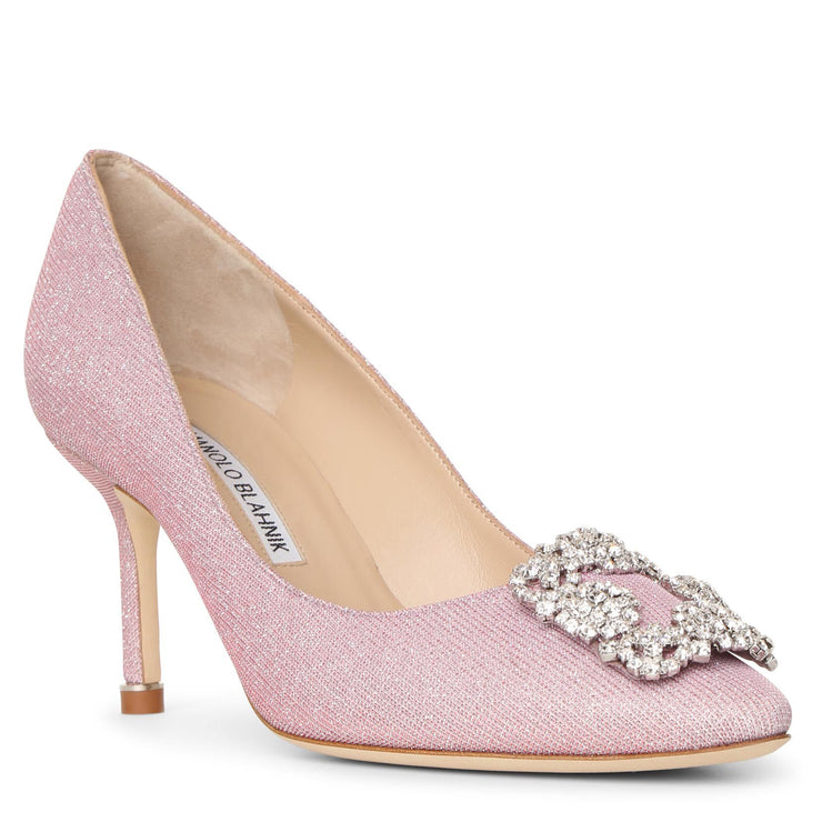 Hangisi 70 light pink glitter pumps