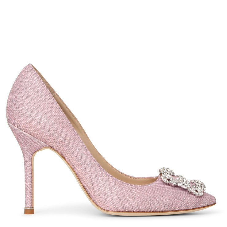 Hangisi 105 light pink glitter pumps