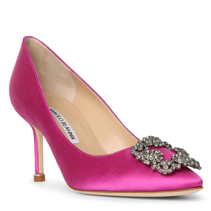 Hangisi 70 pink satin pumps