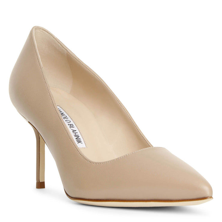 BB 70 beige leather pumps