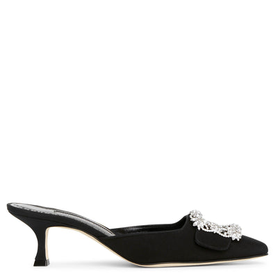 Maysale Jewel black mules