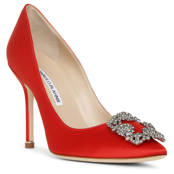 Hangisi 105 red satin pumps