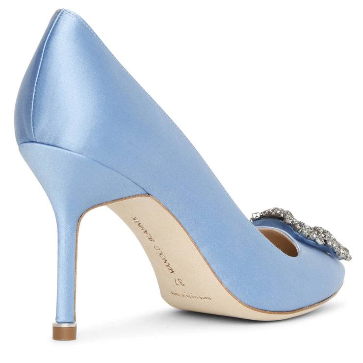 Hangisi 90 blue satin pumps