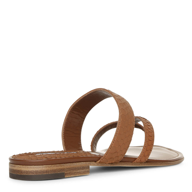 Susa flat brown leather sandals