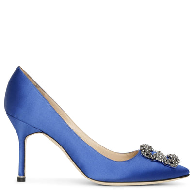Hangisi 90 royal blue satin pumps