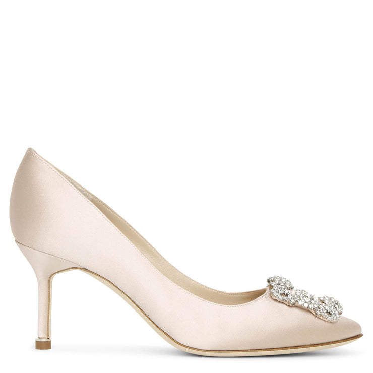 Hangisi 70 nude satin pumps