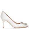 Hangisi 90 ivory satin pumps