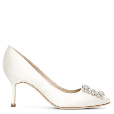 Hangisi 70 ivory satin pumps