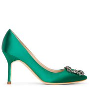 Hangisi 90 emerald satin pumps