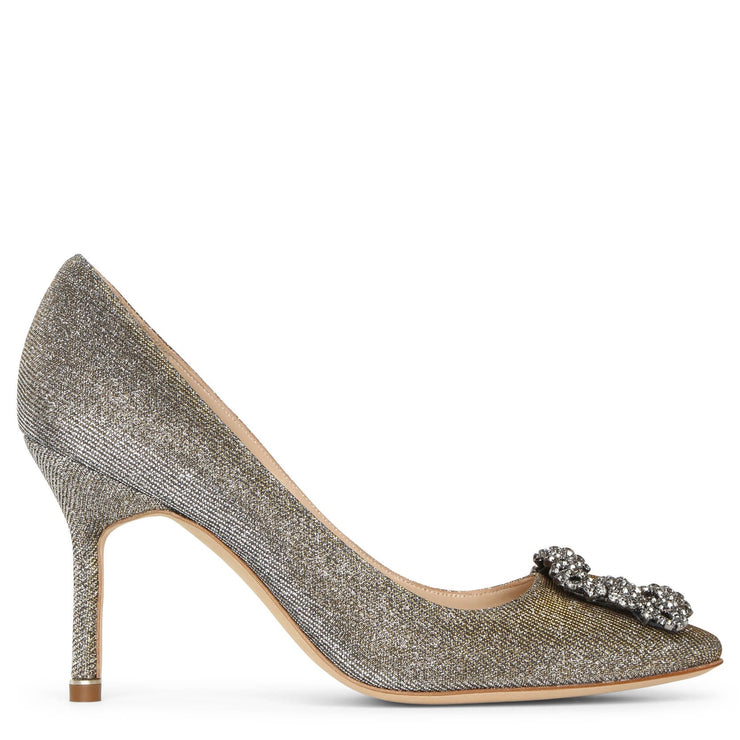 Hangisi 90 dark gold glitter pumps
