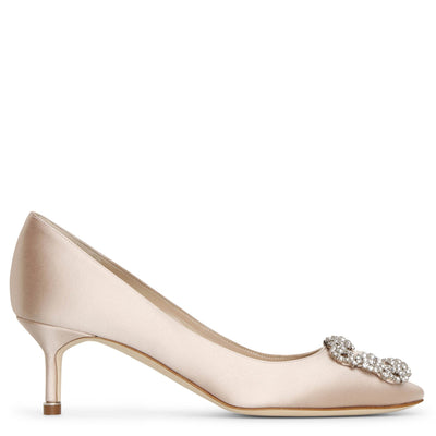 Hangisi 50 nude satin pumps