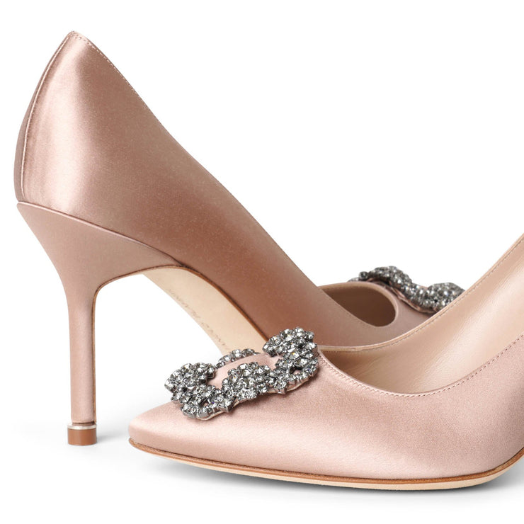 Hangisi 90 beige rose satin pumps