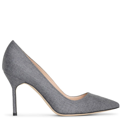 BB 90 dark grey wool pumps
